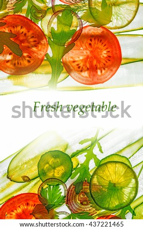 art background from sliced vegetable