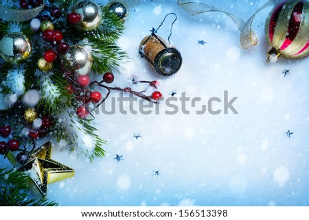 art Christmas and New year party background