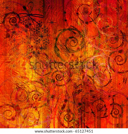 art christmas vibrant red, yellow and orange background