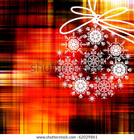 art colorful christmas background with white snowflakes ball on red and gold basis with space for text
