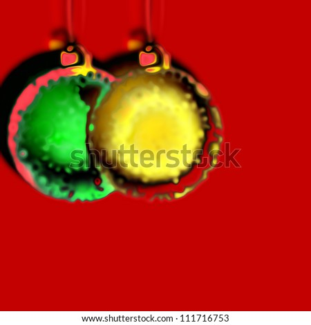 art colorful glass christmas background with space for text