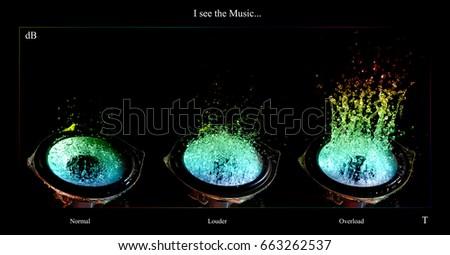 Art concept sound volume  #663262537
