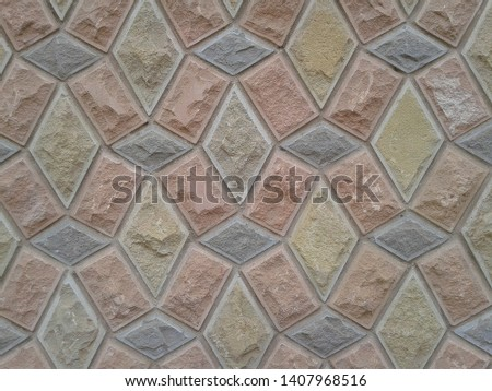 Art 3d Architectural Colored Wall, Abstract Background Design