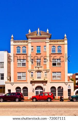 art deco building in South Miami - stock photo
