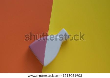 art Deco multicolored vase on a multicolored background, copy space #1213051903
