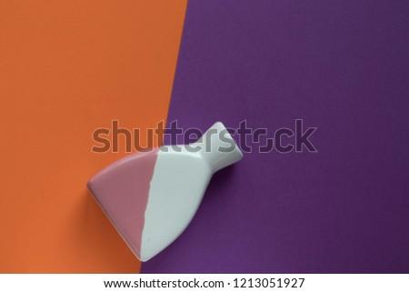 art Deco multicolored vase on a multicolored background, copy space #1213051927
