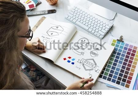 art design drawing badge logo...