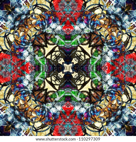 art eastern national traditional pattern - stock photo