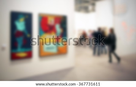 art exhibition background with...
