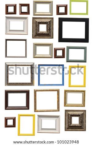 Art frame isolated on white background