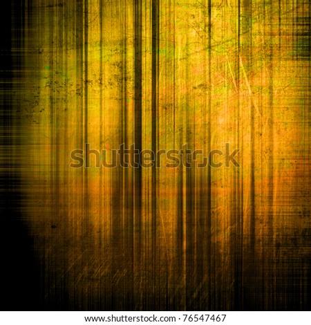 art golden grunge vintage texture background with green, black and brown blots