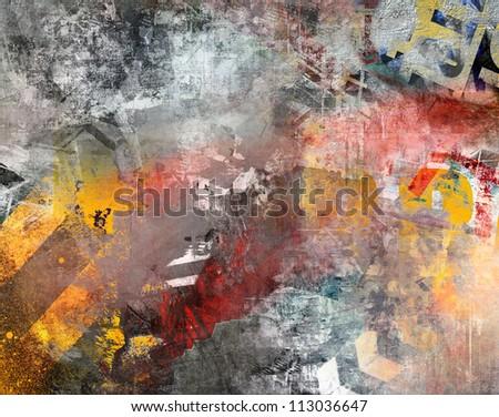 Art grunge background, colorful illustration