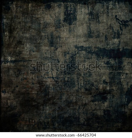 art grunge vintage parchment textured black background with blots