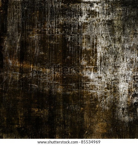 art grunge vintage textured black background with white and brown blots and cracks