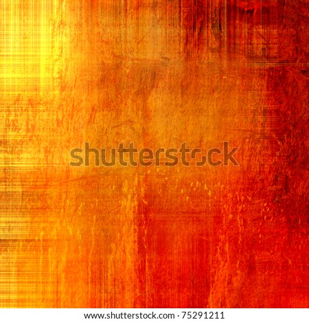 art grunge vintage textured bright red, orange, gold and yellow watercolor and graphic background, monochrome texture