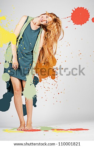 art image with colorful splash, creative