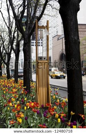 Art in the gardens along Michigan Avenue in Chicago