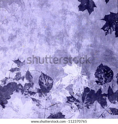 art leaves autumn background card