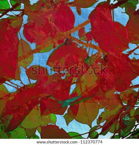 art leaves season background card
