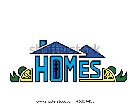 art logo/design of a house