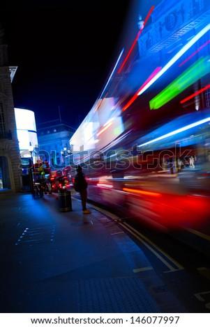 Art London night city traffic