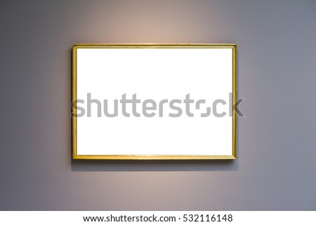 5543f9e1a31a Art Museum Frame Dark Grey Wall Ornate Minimal Design White Isolated  Clipping Path Template
