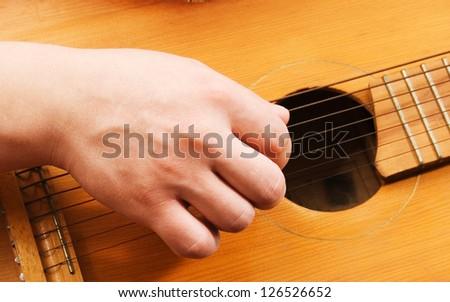 art music instrument guitar strings actor hands.