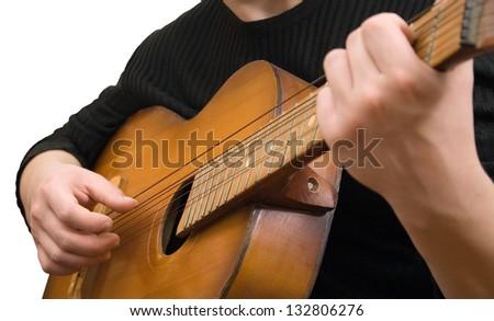 art music jazz guitar strings hand