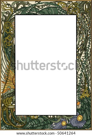 Art Nouveau Frame RASTER version
