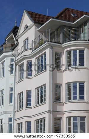 art nouveau style house in Kiel, Germany