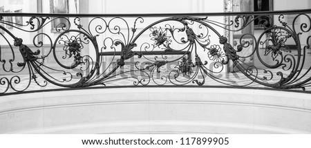 Art Nouveau style Metal Balustrade