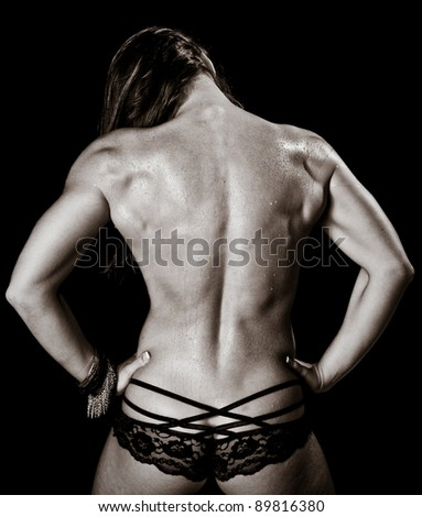 Art of a Woman's Back Muscles
