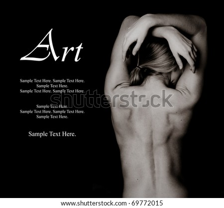 Art of a Woman's Back with Text Space to the left
