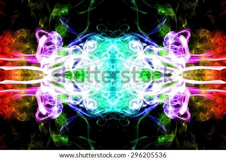 art of color smoke on black background, colorful smoke on black  background, smoke background,colorful ink background,rainbow background ,beautiful color smoke