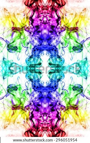 art of color smoke on white background, colorful smoke on white background, smoke background,colorful ink background,rainbow background ,beautiful color smoke