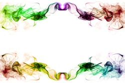 art of color smoke on white background, smoke background,colorful ink background, beautiful color smoke.