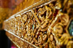 Art of Wall Decoration at Wat Phumin temple, Nan, Thailand