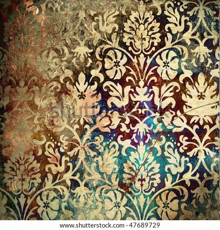 Grunge Art Art Ornamental Floral Grunge