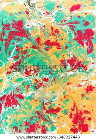 Art painting on water, abstract background. Ebru.