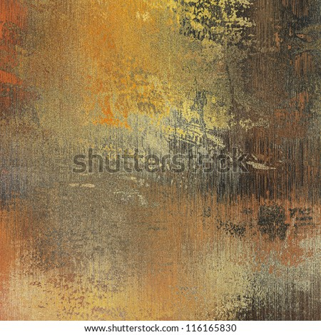 art paper texture with dust for background in gold, beige, orange, grey,  black and brown colors