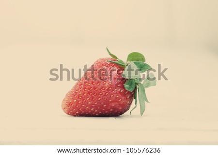art photo of strawberry