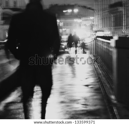 art photo.silhouette of a man...