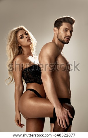 Art portrait of a young and sensual couple #648522877