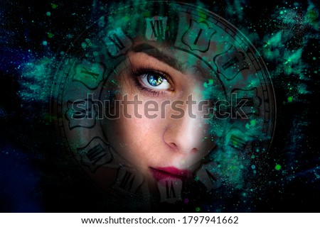 Art portrait woman and space  Photo stock ©