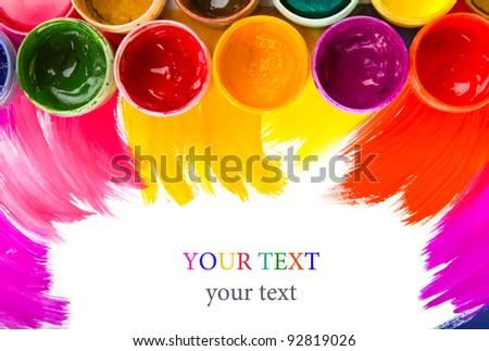 art studio paints, palette,