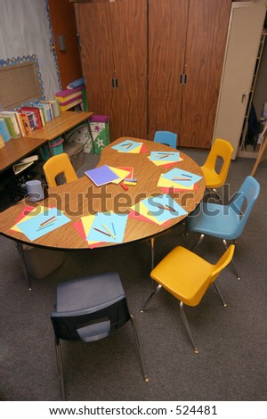 art table ready for the young artist to creative