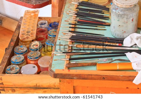 Art Tools, dyes and brushes