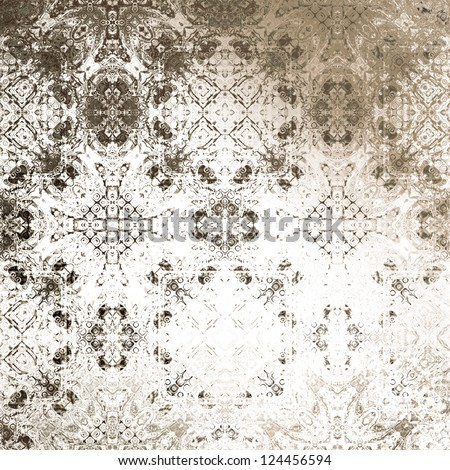 art vintage damask seamless pattern, silk background in brown and white colors