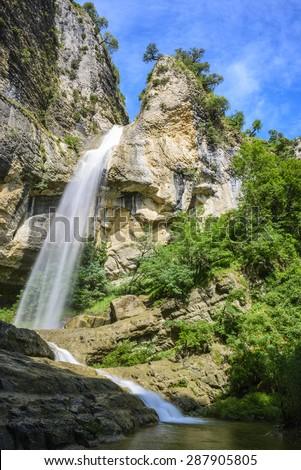 Artazul Waterfall, Navarre (Spain) Stock fotó ©