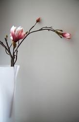 Artfifcial textile flower in vase